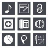 Los iconos para el diseño web fijaron 36 Imagenes de archivo