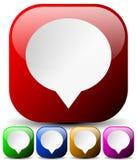 Los iconos para la comunicación, foro, mensaje de la burbuja del discurso, charlan concentrado libre illustration