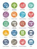 Los iconos personales y del negocio de las finanzas fijaron 1 - Dot Series Fotos de archivo libres de regalías