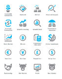 Los iconos personales y del negocio de las finanzas fijaron 4 - serie de Sympa Foto de archivo