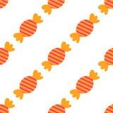 Los iconos planos de los caramelos coloridos dulces fijaron el ejemplo aislado del vector en el fondo blanco Modelo inconsútil ep libre illustration