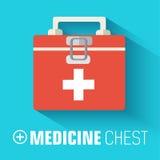Los iconos planos de la medicina fijaron concepto Vector Imagen de archivo libre de regalías