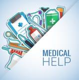 Los iconos planos de la medicina fijaron concepto Vector Fotografía de archivo