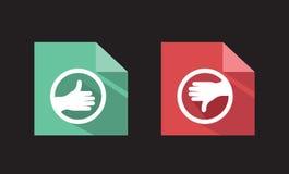 Los iconos planos del vector tienen gusto desemejante libre illustration