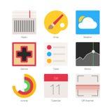 Los iconos planos mínimos del vector fijaron 4 Fotografía de archivo libre de regalías