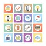 Los iconos planos modernos del diseño web fijaron 2 Foto de archivo