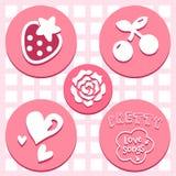 Los iconos preciosos de la tarjeta del día de San Valentín fijaron grande para cualquier uso Vector eps10 Fotografía de archivo libre de regalías