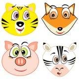 Iconos principales animales de la historieta linda Imagenes de archivo
