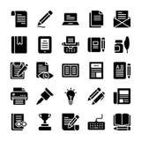 Los iconos sólidos de Copywriting embalan libre illustration