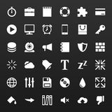 Los iconos simples determinados del vector para los medios usos llaman por teléfono, sitio web Foto de archivo libre de regalías