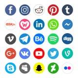 Los iconos sociales de la red y abotonan aislado - png libre illustration