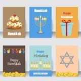 Los iconos tradicionales de los símbolos de la iglesia del judaísmo fijados aislaron el ejemplo del vector libre illustration
