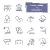 Los iconos universales simples que hacían compras fijaron para el diseño móvil del ADN del web Foto de archivo