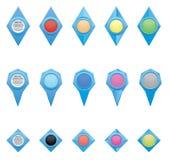 Los iconos y los indicadores Imagen de archivo