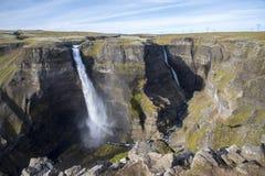 Los ifoss del ¡de HÃ caen, río del ¡de FossÃ, Islandia 2 Imagen de archivo