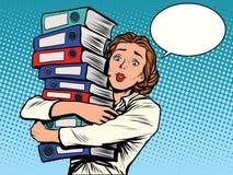 Los informes anuales del contable de la muchacha libre illustration
