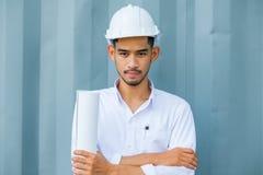 Los ingenieros estructurales son el ir elaborado en el Libro Blanco Foto de archivo libre de regalías
