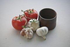 Los ingredientes para la salsa Imagen de archivo