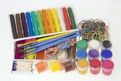 Los items están para el desarrollo creativo imagen de archivo