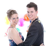 Los jóvenes aislaron pares - príncipe y princesa en carnaval Imagen de archivo libre de regalías
