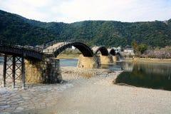 Los japoneses famosos wodden el puente/Kintaikyo Imagenes de archivo