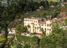 Los jardines botánicos del castillo de Trauttmansdorff, Merano, Italia Fotos de archivo