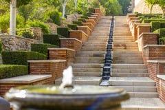 Los jardines de Alcazaba Fotos de archivo