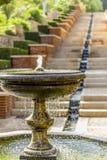 Los jardines de Alcazaba Imagen de archivo