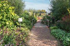 Los jardines de Appeltern en los Países Bajos son una oportunidad de resolver f Foto de archivo