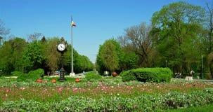 Los jardines de Cismigiu (Parcul Cismigiu) almacen de metraje de vídeo