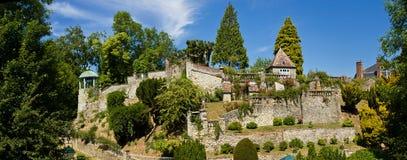 Los jardines de Enrique Le Sidaner - panorama fotografía de archivo libre de regalías