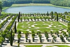 Los jardines del palacio de Versalles Imagen de archivo libre de regalías