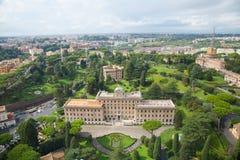 Los jardines del Vaticano Fotografía de archivo libre de regalías