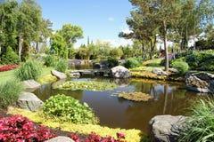 Los jardines en el og Fjaere de Flor Fotografía de archivo libre de regalías