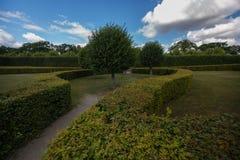 Los jardines magníficos de Royal Palace Drottningholm Imágenes de archivo libres de regalías