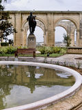 Los jardines superiores de Barrakka en La Valeta Malta Imágenes de archivo libres de regalías