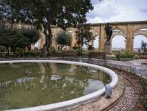 Los jardines superiores de Barrakka en La Valeta Malta Fotos de archivo libres de regalías
