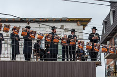 Los judíos ortodoxos Hasidim celebran Rosh Hashanah Rezo Foto de archivo libre de regalías