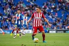 Los juegos de Koke Resurreccion en el La Liga hacen juego entre el RCD Espanyol y Atletico de Madrid Foto de archivo libre de regalías