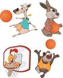 Los jugadores de básquet. Fotos de archivo libres de regalías