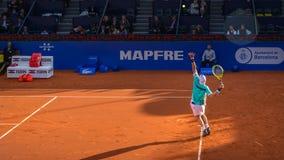 Los jugadores en la Barcelona se abren, un torneo de tenis anual para el jugador profesional masculino fotos de archivo libres de regalías