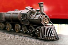 Los juguetes de acero del tren para los niños, tren juegan coleccionables fotografía de archivo libre de regalías