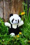 Los juguetes de los niños en la hierba Foto de archivo