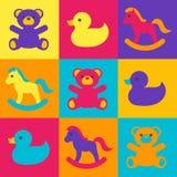 Los juguetes de los niños multicolores Fotografía de archivo libre de regalías