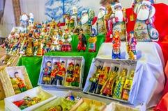 Los juguetes de madera de la Navidad Imágenes de archivo libres de regalías