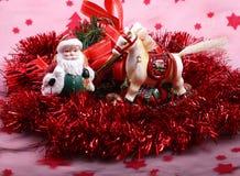 Los juguetes del Año Nuevo de la Navidad. Imagen de archivo libre de regalías