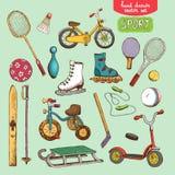 Los juguetes del deporte fijaron el ejemplo Foto de archivo libre de regalías