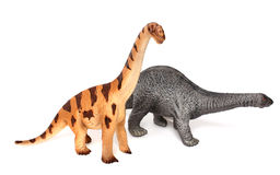 Los juguetes del dinosaurio aislaron fotografía de archivo libre de regalías