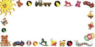 Los juguetes enmarcan horizontal Imagen de archivo libre de regalías