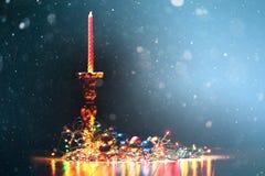 Los juguetes y los ornamentos del Año Nuevo Imagen de archivo libre de regalías